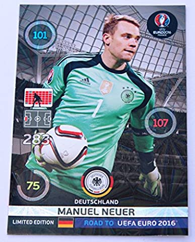 Panini Adrenalyn Road to UEFA EURO 2016 Neuer Deutschland limited Edition Karte