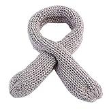 Babybekleidung Schals Longra Herbst Winter jungen Mädchen Schal gestrickt O Ring Soild Keep Warm Halstücher Schals (3 bis 12-Year) (Gray)