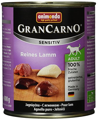Animonda Gran Carno Sensitive Adult Reines Lamm, 6er Pack (6 x 800 g)