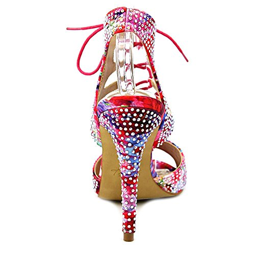 Thalia Sodi Rhumba Stoff Sandale Pink Floral
