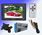 Flyfilms 5.6 Inch TFT LCD Video Monitor w Adapter Cable Remote Control Car Mount
