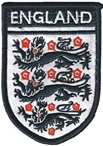 Patch Thermocollant Fer/A Coudre Tissu Emblème Angleterre England 3 Lions