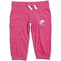 Nike Gym Vintage Pirata YTH - Pantalón capri para niña, color rosa, talla L