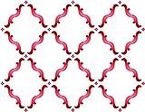 Marokkanische Trellis Schablone, wiederverwendbar Groß Marrakesch Gitter Allover Muster Wand Schablone-Vorlage, auf Papier Projekte Scrapbook Tagebuch Wände Böden Stoff Möbel Glas Holz etc. L