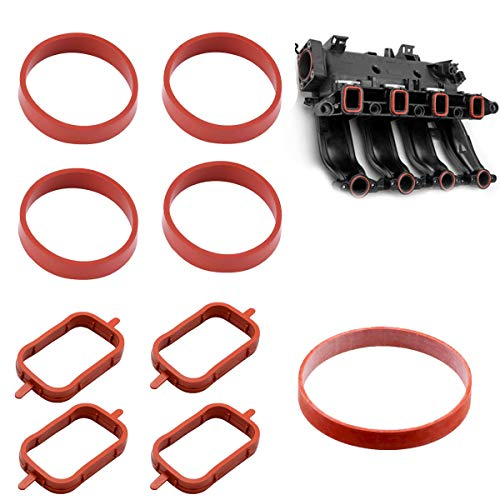 Maso 4 Stück Ansaugstutzen Verteilerdichtungen Einlass-Reparatur-Set kompatibel 320d 525d 530d 730d HG L2T7