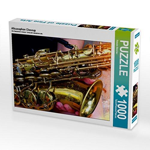 CALVENDO Puzzle Altsaxophon Closeup 1000 Teile Lege-Größe 64 x 48 cm Foto-Puzzle Bild von Renate Bleicher