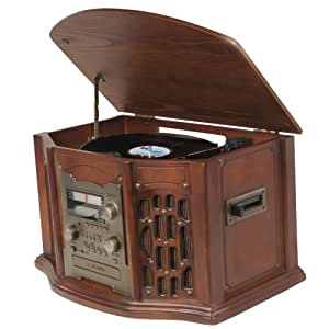 Multi Function All-in-One Deluxe Music Centre System, CD Player, CD Burner, Radio, 3 Speed Turntable.