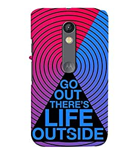 printtech Life Quotes Back Case Cover for Motoroal Moto X Play