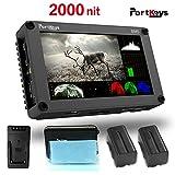PortKeys BM5 5 pollici Ultra luminoso 2000nit 3G SDI / 4K HDMI Touch Screen Videocamera DSLR Monitor da campo con 3D LUT, Wavaform, Funzioni di controllo videocamera, Piccolo monitor portatile
