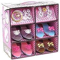 Vestido de princesa y zapato de juguete y boutique de joyas (incluye 4 pares de zapatos y varios accesorios de moda) - Este conjunto de joyas y vestido de princesa es el mejor regalo para niñas de 2-10 años