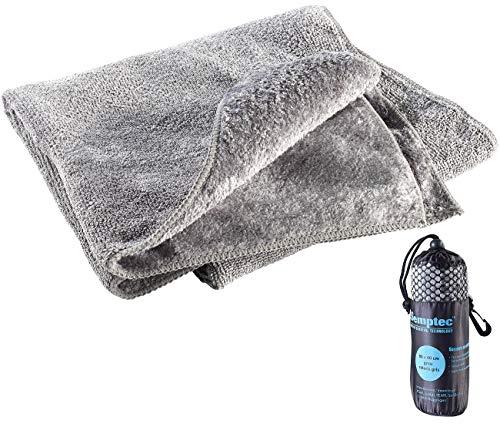 Semptec Urban Survival Technology Outdoor Handtuch: Mikrofaser-Handtuch, 2 versch. Oberflächen, 80 x 40 cm, grau (Handtuch Microfaser Outdoor)