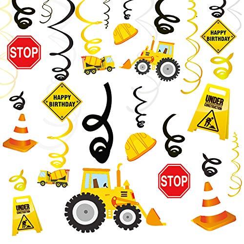 ag Party Dekorationen Wirbel, Spiralen Deko, Kindergeburtstag Startseite Decke Hängend Wand-Dekor für Dumper Truck Car Zone unter dem Motto Party Favors Dekor ()