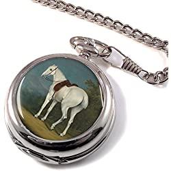 Grey Hunter Horse by Agasse Full Hunter Pocket Watch