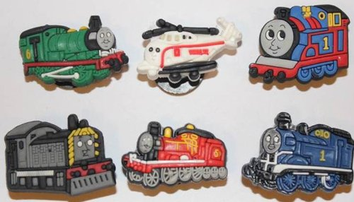 thomas-tank-engine-and-friends-mix-shoe-charms-set-of-6-shoes-crafts-cake-toppers-62-