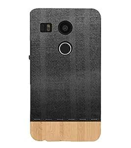 PrintVisa Woven Cloth Design 3D Hard Polycarbonate Designer Back Case Cover for LG Google Nexus 5X