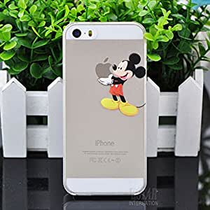 Coque Iphone 5C Mickey qui tient la pomme Apple Etui Housse Bumper: Amazon.fr: High-tech