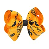 VEMOW Mode Nette Baby Mädchen Halloween Stirnband Bogen Elastisches Haar Kopf Haarband Fotografie Requisiten(Orange, Freie Größe)