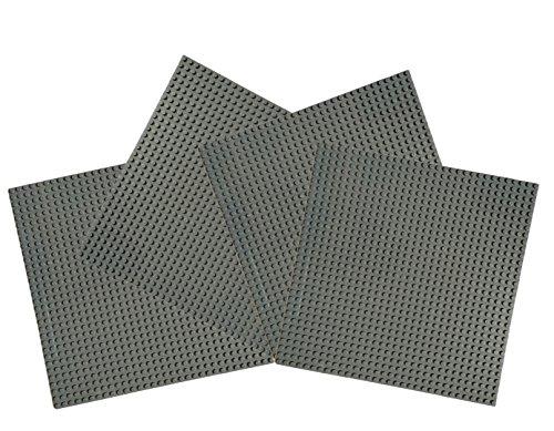 4-piezas-x-large-baseplate-32x32-pernos-25cm-x-25cm-gris-oscuro-estandar-puntos-ladrillos-minifigure