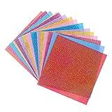 Demiawaking 20pcs leuchtendes quadratisches Origami festes Papier faltender handgemachter Scrapbooking Papier Kinder DIY Dekor
