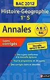 ANNALES BAC 2012 HISTOIRE/GEO