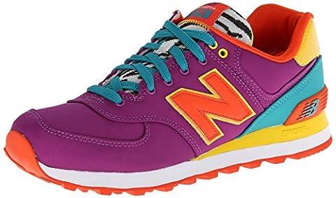 New Balance Schuhe WL 574 Damen purple-yellow-orange (WL574PY), 40, lila