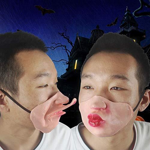 JIE Halloween Tricks Maske Kreative Lustige Lustige Ausdruck Mund Masken Bar Party Performance Items,Fleisch,Mund Nase Maske