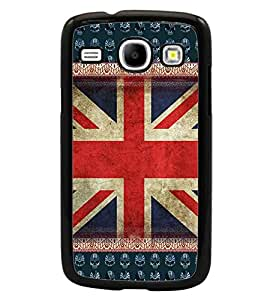 PrintDhaba UK Flag D-5098 Back Case Cover for SAMSUNG GALAXY CORE i8262 (Multi-Coloured)