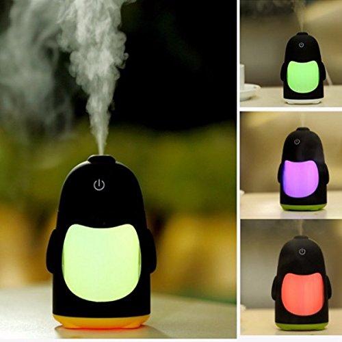 Global Portable Mini USB Humidificateur Purificateur d'air Aroma Diffuseur LED Lumière Bureau Accueil