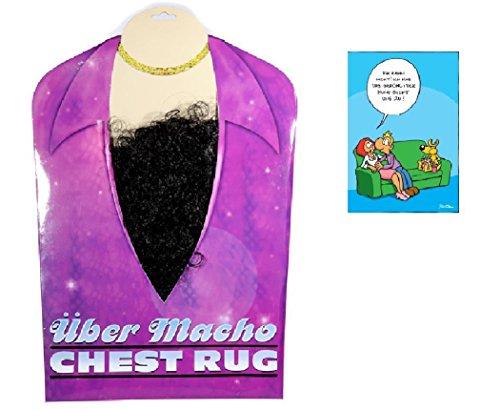 Mann Macho Baby Kostüm (Brusthaar Toupet & Postkarte