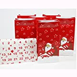 24 Tüten SANTA Adventskalender Geschenktüten Weihnachten Tüten