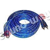 RCA-Cinch-Audiokabel, 5Meter, 90°, Kabel doppelt geschirmt, hohe Qualität Remote-Kabel, für Verstärker