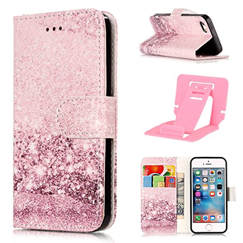 Custodia iphone 6 plus Antiurto,Cover iphone 6S plus 5.5 in Pelle,Ekakashop Moda Colorato Marmo Pattern Vintage Cellulare Cover Shockproof Completa Protettivo Caso Cover Custodia per iphone 6 plus 6S Rose Gold