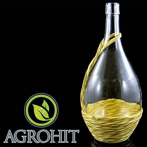 Glasflaschen 2l Weinkaraffe Dekantierer Liköre , Cognac , Whisky + Kork