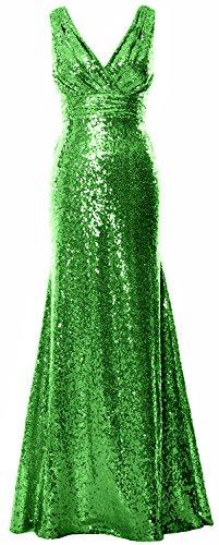 MACloth - Robe de mariage - Trapèze - Sans Manche - Femme Vert