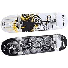 Hudora 12545 Skateboard Freak 3.0 ABEC 5 - Tabla de skate (madera de arce 100%)