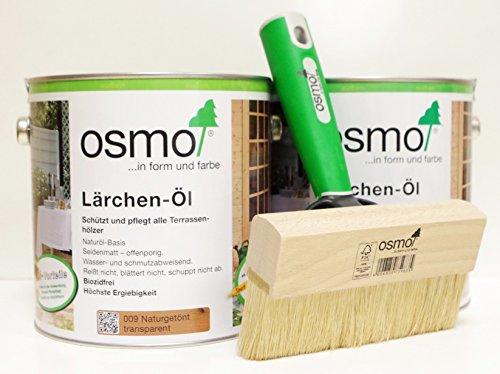 OSMO AB.Bauconcept GbR© Kombiangebot Lärchen-Öl 009 5 Liter Fußbodenstreichbürste 150 mm