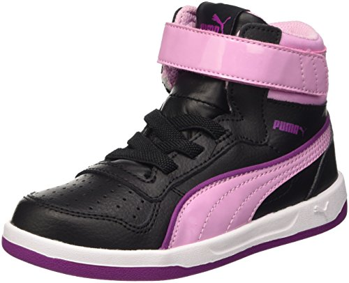Puma Liza Mid Dazz V Ps, Sneaker Children and Teenagers (Gymnastics), Nero/Pastel Lavender, 13 EU