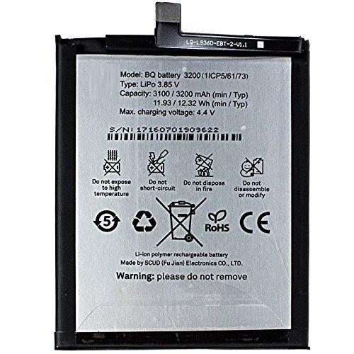 Todobarato24h Bateria Compatible BQ Aquaris X5 Plus 3200 mAh Voltaje 4.4v