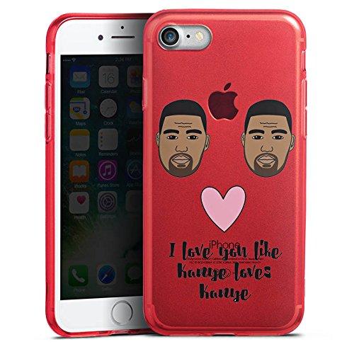 Apple iPhone 7 Silikon Hülle Case Schutzhülle Motiv ohne Hintergrund Kanye West Statement Silikon Colour Case rot
