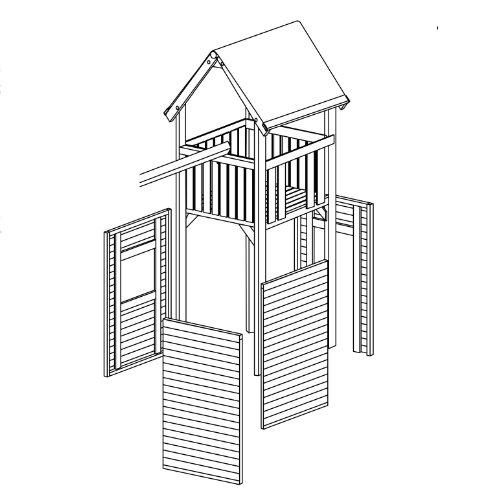 Zubehör: Wandelemente für Gartenpirat Premium Spielturm S, M, L und XL