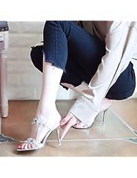 018c1872bb703 YMFIE In stile europeo estate nuovo sexy lacca pelle tacco alto scarpe lady  toe toe sandali