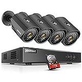 ANNKE 8CH 1080P Lite 5 in1 HD-TVI CCTV Security System w/ 4x HD