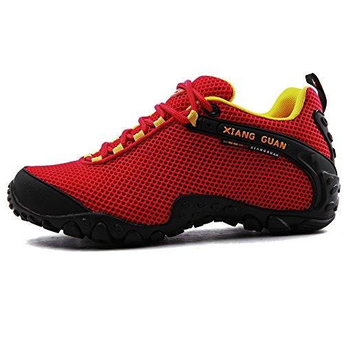 XIANG GUAN Outdoor Scarpe da escursionismo traspirante basso-top sportive scarpe running calzature donna 81286 Rosso