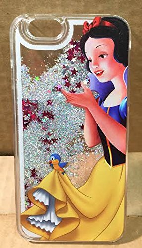 Hartschale, Motiv: Prinzessin, mit Glitzersternen in Flüssigkeit für iPhone 5, 5S, 5SE, 6, 6S, SNOW WHITE .1, APPLE IPHONE 5SE SNOW WHITE .1
