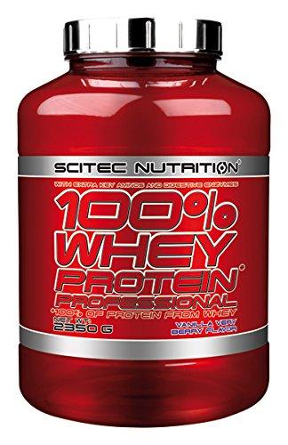 Scitec Nutrition 100% Whey Protein Professional Suplemento Nutricional de Proteinas con Sabor de Vainilla y Frutas de Bosque, 2350 g