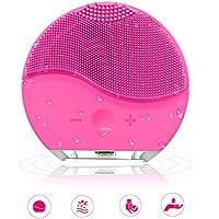 Cepillo Limpiador Facial Silicona, DAREN&KIWI Mini Limpiador Facial Ultrasónico Recargable para Todos Tipos de Piel