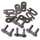 4 Set 420 Ketten Master Link Kit Steckverbinder passend für 50cc 70cc Dirt Bike ATV Motorrad Fahrrad