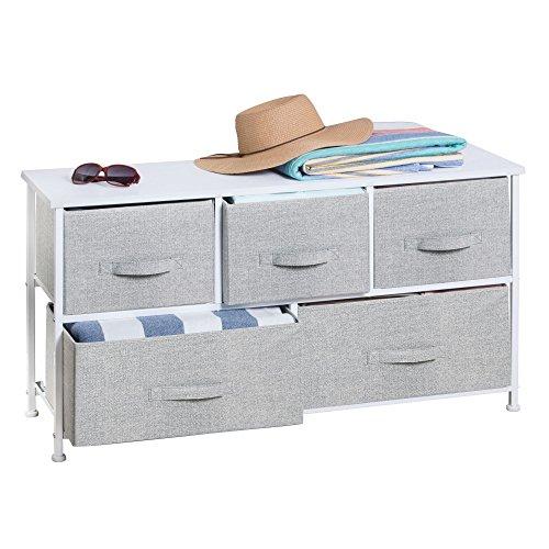 mDesign Textil-Kommode mit 5 Schubladen – universelles Aufbewahrungssystem für Flur,...