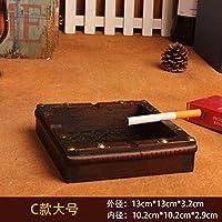 Legno massello Queen size posacenere in legno personalità creative home living room Bar regali di compleanno,C senza un piede Regina
