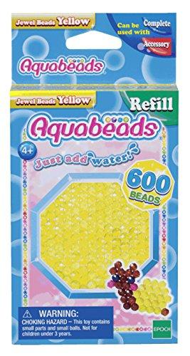 Aquabeads 32688 Glitzerperlen Bastelperlen nachfüllen gelb
